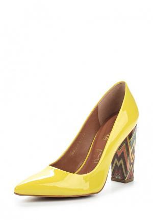 Туфли Indiana. Цвет: желтый
