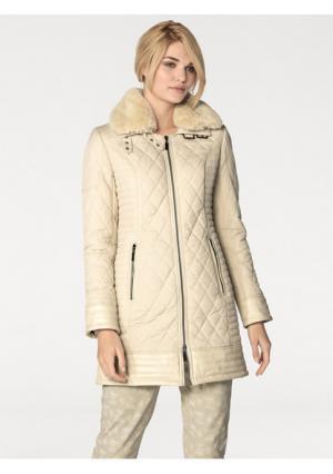 Стеганое пальто Rick Cardona. Цвет: бежевый