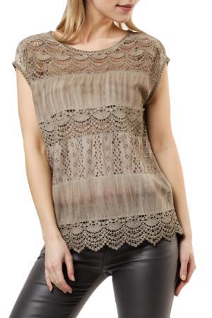 Блузка REPEAT. Цвет: коричневый