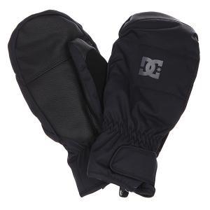 Варежки сноубордические DC Seger Mitt Anthracite Shoes. Цвет: черный