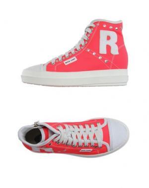 Высокие кеды и кроссовки RUCO LINE. Цвет: фуксия