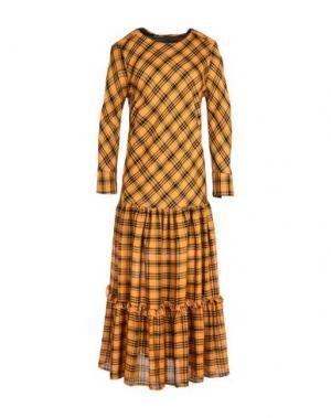 Платье длиной 3/4 NINEMINUTES. Цвет: охра