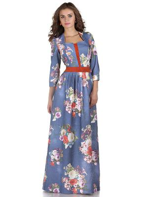 Платье OLIVEGREY. Цвет: синий, сиреневый