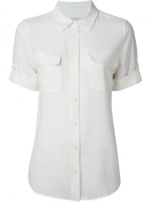 Рубашка с подвёрнутыми рукавами Equipment. Цвет: белый