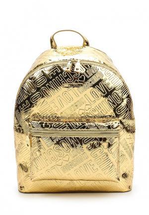 Рюкзак Love Moschino. Цвет: золотой