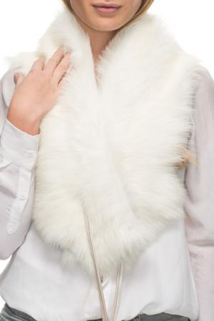 Шарф из овчины Jean Guise. Цвет: white