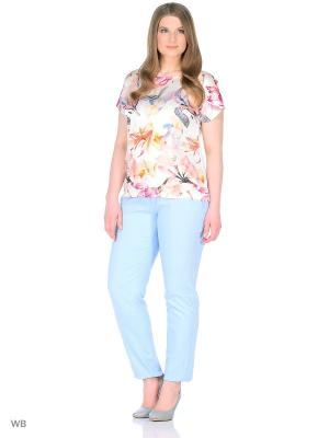 Блузка ELNY. Цвет: персиковый, белый