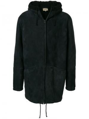 Пальто из овчины Yeezy. Цвет: чёрный
