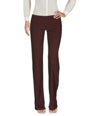 Повседневные брюки FISICO-CRISTINA FERRARI. Цвет: темно-коричневый