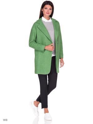 Пальто Леди Шарм. Цвет: зеленый