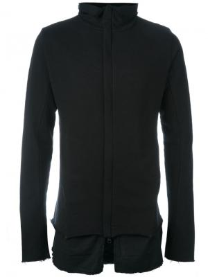 Многослойный свитер на молнии Thom Krom. Цвет: чёрный