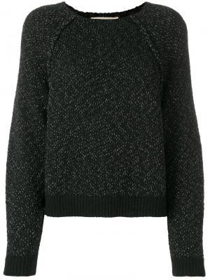 Трикотажный свитер с блестками Vanessa Bruno. Цвет: чёрный