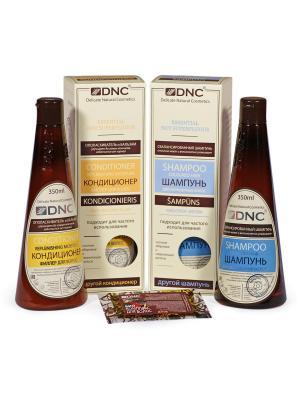 Шампунь Для окрашенных волос, Кондиционер-Филлер (2х350 мл) и Биокомплекс в подарок (15 DNC. Цвет: белый, прозрачный, светло-желтый