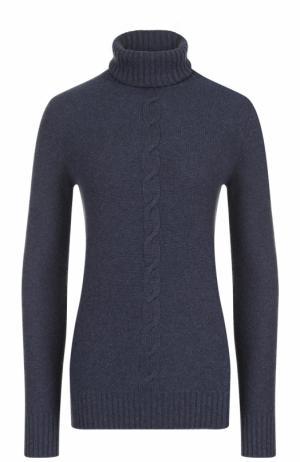 Кашемировый свитер прямого кроя с высоким воротником Loro Piana. Цвет: темно-синий
