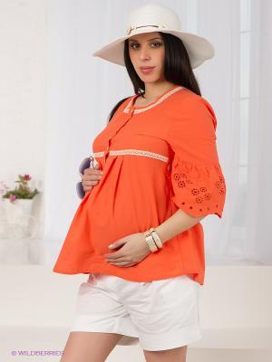 Блузка Livaa. Цвет: оранжевый