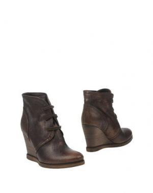 Полусапоги и высокие ботинки E_GO' SONIA DE NISCO. Цвет: темно-коричневый