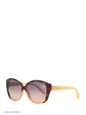 Солнцезащитные очки SK 0058 56Z Swarovski. Цвет: коричневый