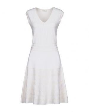Короткое платье MAISON ULLENS. Цвет: белый