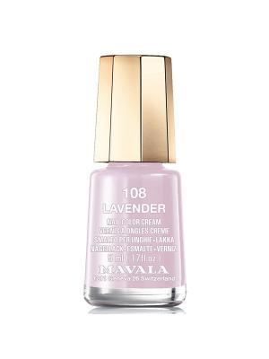 Лак для ногтей тон 108 Lavander Mavala. Цвет: сиреневый