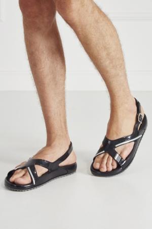 Резиновые сандалии Prada. Цвет: черный