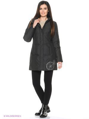 Стеганое пальто Violanti Land. Цвет: серый