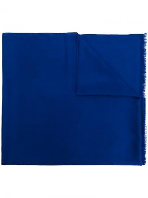 Однотонная шаль Versace. Цвет: синий