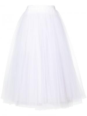Многослойная юбка Maticevski. Цвет: белый