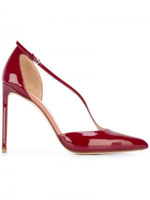 Туфли с заостренным носком Francesco Russo. Цвет: красный
