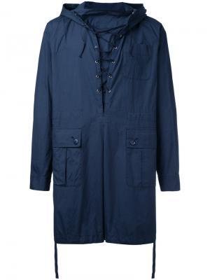Ветровка-пуловер Undercover. Цвет: синий