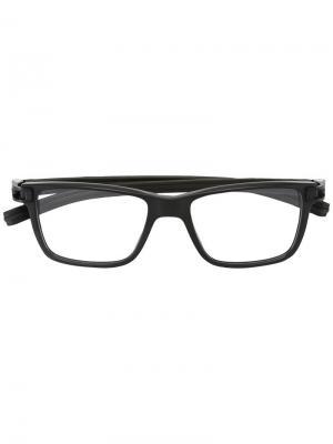 Оптические очки в квадратной оправе Tag Heuer. Цвет: чёрный