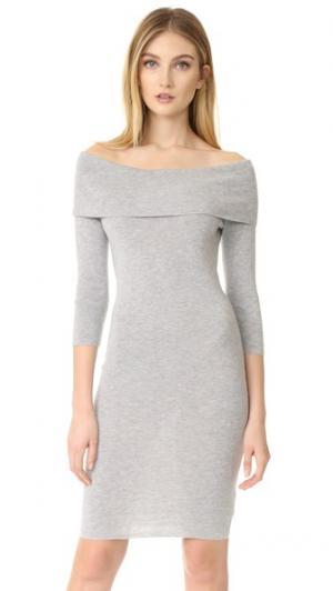 Платье-свитер с открытыми плечами Vance cupcakes and cashmere. Цвет: серый
