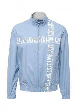 Ветровка Love Moschino. Цвет: голубой