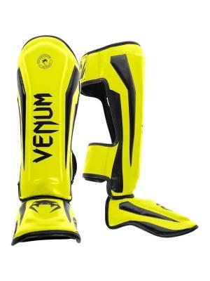 Щитки Venum Elite Neo Yellow. Цвет: желтый