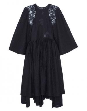 Хлопковое платье Comme des Garcons. Цвет: черный