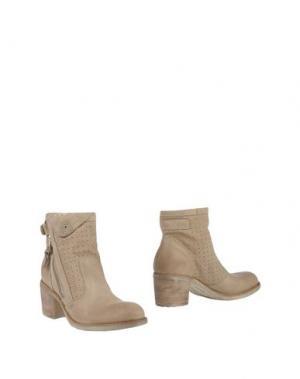 Полусапоги и высокие ботинки NERO GIARDINI. Цвет: бежевый