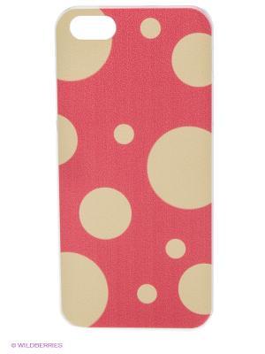 Чехол для iPhone 5/5s White dots Kawaii Factory. Цвет: розовый, бежевый