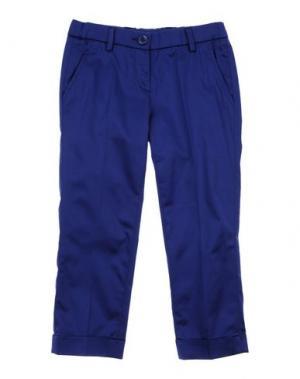 Повседневные брюки MICROBE. Цвет: синий