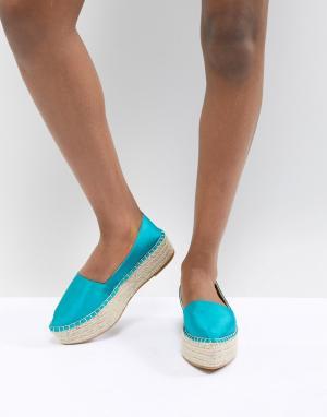 ASOS Эспадрильи с острым носком DESIGN Joyous. Цвет: зеленый