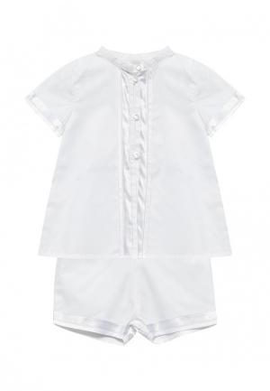 Комплект рубашка и шорты Míacompany. Цвет: белый