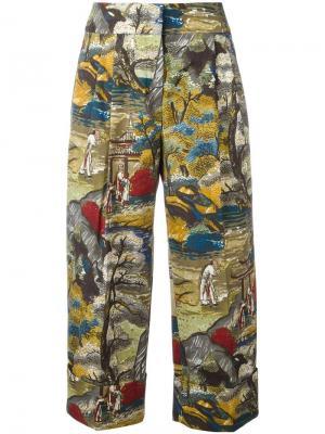 Printed cropped trousers Antonio Marras. Цвет: многоцветный