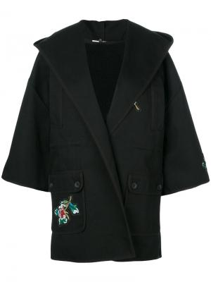 Пиджак-кимоно Red Valentino. Цвет: чёрный