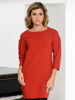 Платье BOVONA. Цвет: темно-красный
