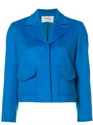 Классический пиджак Akris Punto. Цвет: синий