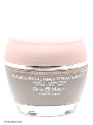 Успокаивающая маска для лица с термальной глиной Frais Monde. Цвет: серый, бледно-розовый