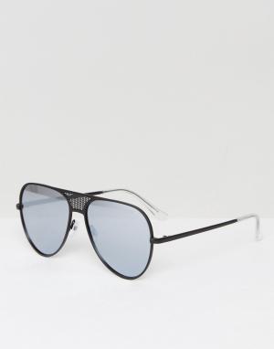 Quay Australia Черные солнцезащитные очки-авиаторы X Kylie Jenner Icon. Цвет: черный