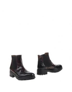 Полусапоги и высокие ботинки SAX. Цвет: красно-коричневый
