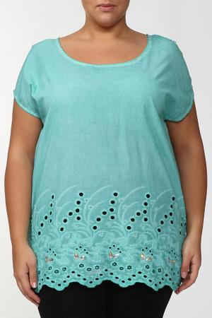 Блузка LA VELINA. Цвет: зеленый