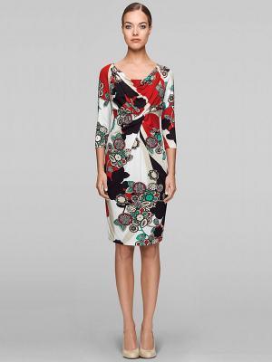 Платье Elegance. Цвет: белый, зеленый, красный, черный