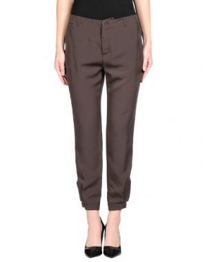 Повседневные брюки TROU AUX BICHES. Цвет: темно-коричневый