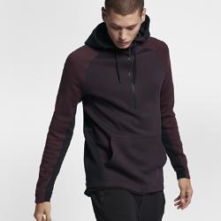 Мужская худи с молнией до середины груди  Sportswear Tech Fleece Nike. Цвет: пурпурный